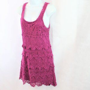 Staring at Stars Tiered Crochet Lace Dress
